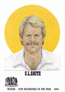 Official Wisden Cricketer of the Year 1984 - Chris Smith - Limited Edition Print