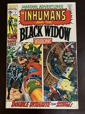 Amazing Adventures #1 - 1st Solo Black Widow/Inhumans - 1970