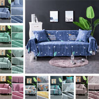 Thicken Towel Sofa Cover Floral Plush Soft Couch Slipcover Furniture Cushion Pad