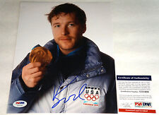 BODE MILLER Signed Olympic Gold Photo Gorgeous Blue Ink Autograph PSA/DNA COA