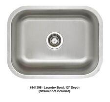 "BLANCO 441398 STELLAR Laundry Bowl Undermount Stainless Steel Sink, 12"" Depth"