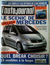 L'AUTO-JOURNAL  de 12/1999; Le Scénic de mercedes/ Dossier essai 18 Break/ Aston