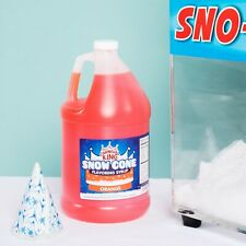 (4/1 Gallons) Premium Carnival King State Fair Orange Snow Cone Syrup