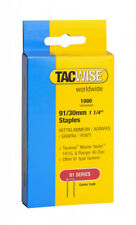 Tacwise Tacker Staples (91) 30mm For use in 191EL, Ranger 40 Duo Heavy Duty