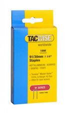 Tacwise agrafeuse agrafes (91) 30mm pour utilisation dans 191EL, ranger 40 Duo heavy duty
