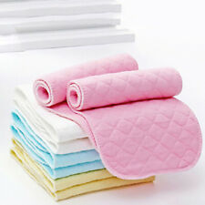10Pcs Reusable Baby Cotton Cloth Diaper Washable 3-Layers Nappy Liners Insert US