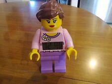 RARE Lego Belville Girl Minifigure Alarm Clock  with Light RETIRED