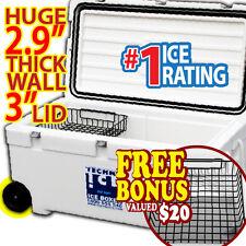 TECHNI ICE 111Qt (105L) Signature Cooler Ice Box Hunting Fishing