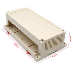 4pcs 200*110*60mm abs PLC plastic box din rail plastic equipment housing box