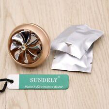 Gold Car Freshener Perfume Diffuser Air Vent Clip Turbofan Shape Fragrance