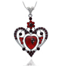 Red Heart Pendant Necklace Mother's Day Birthday Gift For Mom Wife n2070r