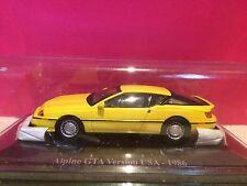 ELIGOR SUPERBE ALPINE  GTA VERSION USA 1986 NEUF SOUS BLISTER 1/43 K9