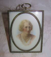 Antique Portrait Miniature Circa 1920's