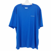 Columbia Omni Wick T-Shirt Men's Size XL Short Sleeve Casual Crew Neck Tee Blue