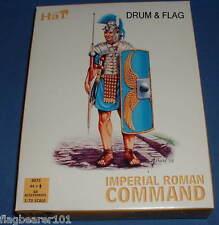 HAT 8075 IMPERIAL ROMAN COMMAND. 44 X 1/72 SCALE UNPAINTED PLASTIC