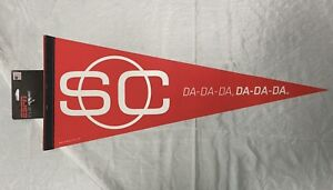 """30"""" Pennant w/ Tag - ESPN Sportscenter """"Da-Da-Da, Da-Da-Da"""""""