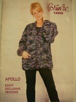 "Colinette Yarns Knitting Pattern Book - APOLLO - 8 Designs 22""- 44"" Bust - VGC"