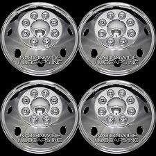 """CHROME Ford 16"""" 8 Lug Dual Steel Wheel Simulators Dually Rim Skins Liners Covers"""