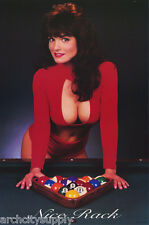 LOT OF 2 POSTERS: NICE RACK - SEXY FEMALE MODEL PLAYING POOL   #2132    LP39 T
