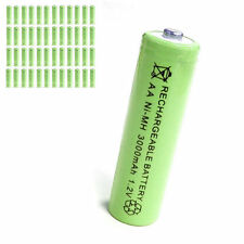 48 pcs AA 2A 3000mAh 1.2V Ni-MH rechargeable battery Solar Light MP3 Toy Green