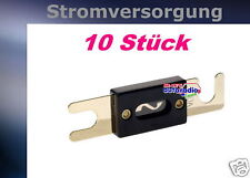 = 10 x Sicherung ANL 125 A 24K vergoldet 125 Ampere
