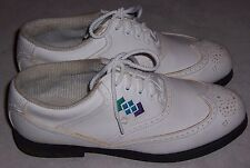 Footjoy Green Joys 48876 White Wingtip Golf Shoes Lace Up Oxfords Womens Size 7M