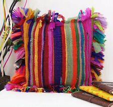 Indian Cushion Cover Handmade 100% Cotton Chindi Rug Making Pillow Rag Vintage