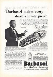 Original Ad for Barbasol Shaving Cream - 1930s?