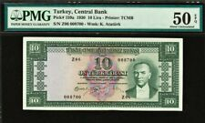 Turkey 10 Lira 1930 ND (1951-60) PICK-159a About UNC PMG 50 EPQ