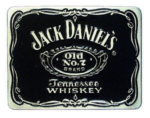 Jack Daniels Label Belt Buckle
