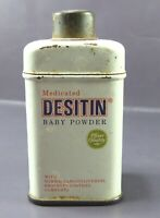 Vintage DESITIN BABY POWDER Tin Container Sample Size MEDICATED PFIZER EMPTY