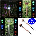 24-Pack Solar Powered Bright LED Light Pathway Lawn Outdoor Garden Lighting Sun