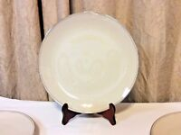 "Vintage Carillon Harmony 10"" Porcelain Dinner Plates w/Gold Rim Set of 4 USA"