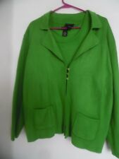 Women's Lane Bryant Green Cardigan Sweater  & Tank Sz 18/20