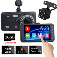 Touch Screen Car Camera DVR Vehicle Monitor Camcorder Dash Cams With SD Card