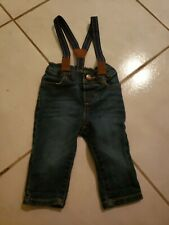 Baby BGosh Jeans Suspenders 6 Months Denim Pants Detachable
