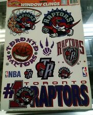 "1997 NBA Toronto Raptors 11.75"" x 17"" Basketball Decals Stickers Window Clings"