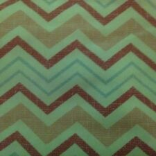Pink and White and Blue Chevron Upholstery Curtains Pillows Fabric 1 Yard 3 inch