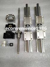 2 X SBR20-250mm LINEAR RAIL & 4SBR20UU & RM1610-250mm Ballscrew&BF12/BK12 Kit