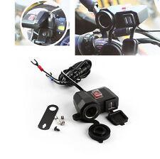 12V USB Cigarette Lighter Waterproof Power Port Outlet Socket Kit For Harley