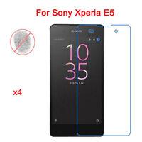 4 Pcs x  Anti-Glare Matte Front Screen Protector Film Shield For Sony Xperia E5