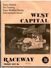 West Capital Raceway Auto Race Program July 31 1976