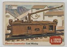 1955 Topps Rails and Sails #28 Electric Locomotive Non-Sports Card 1w1