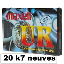 20 K7 CASSETTES AUDIO VIERGE 90 MN  MAXELL