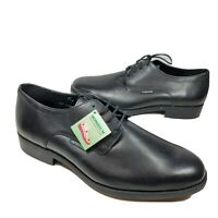 Mephisto Mens Oxford shoes Cooper Plain Toe Derby Black Leather Size 11 US New