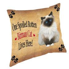Birman Spoiled Rotten Cat Throw Pillow 14x14