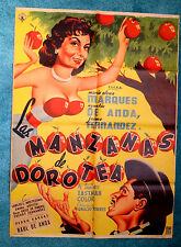 """SEXY """"LAS MANZANAS DE DOROTEA"""" MARIA ELENA MARQUES MEXICAN MOVIE POSTER 1956"""