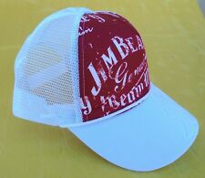 NEW JIM BEAM CAP RED & WHITE WITH ADJUSTABLE HEAD BAND SAVE $$$s