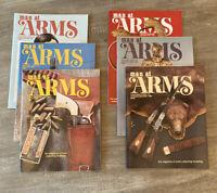 LOT 6 MAN AT ARMS Magazines Complete Year 1982 RIFLE HANDGUN SHOOTING SWORD NRA