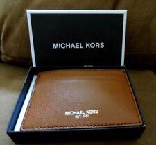 Michael Kors MENS WARREN ATM CREDIT CARD CASE with MONEY CLIP Brown BNIB